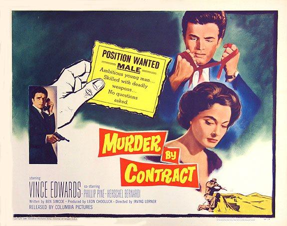 Murder By Contract es un noir brutal, pesimista y que debería ser másconocido.